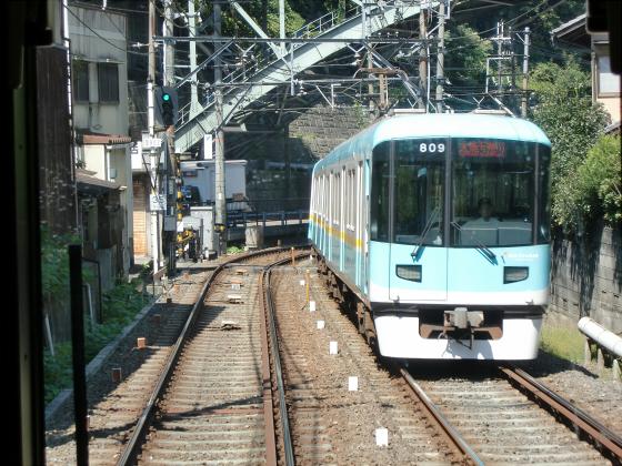 京阪電車の運転席裏から11