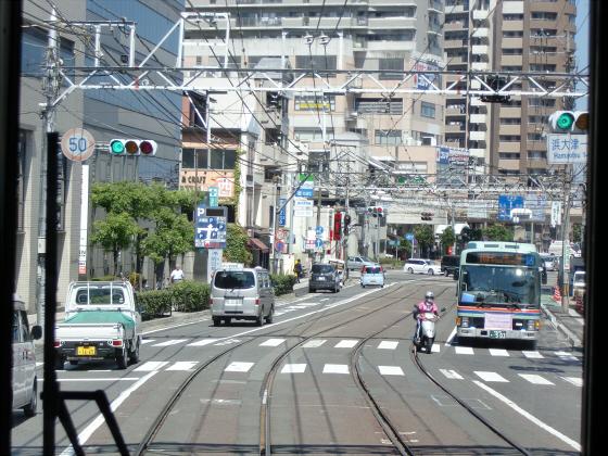 京阪電車の運転席裏から17