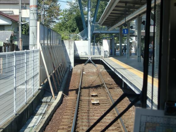 京阪電車の運転席裏から19