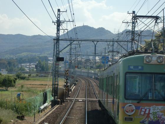 京阪電車の運転席裏から20