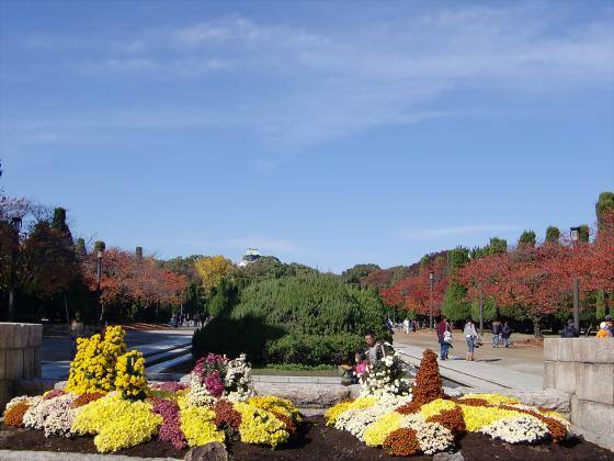 大阪城の紅葉2012-02