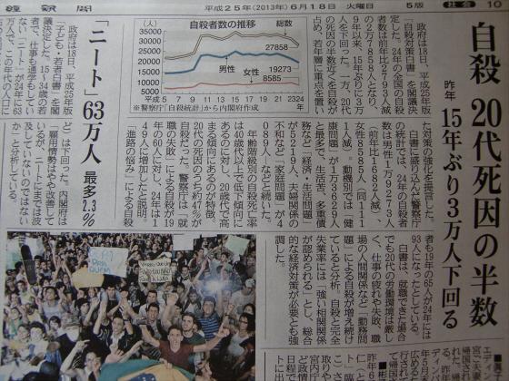 産経新聞眺めてて201306-27