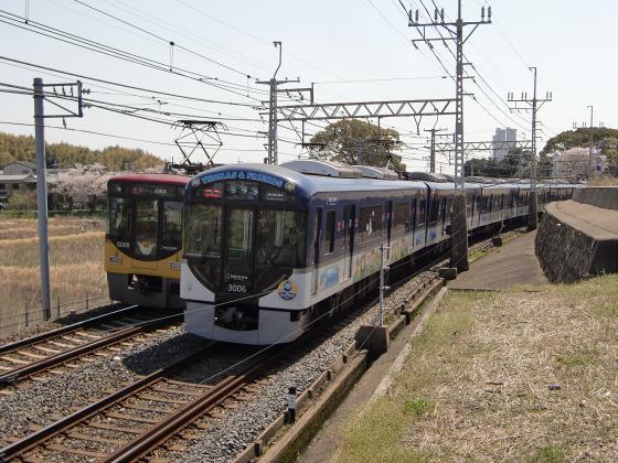 京阪トーマス号2013と桜その1-05