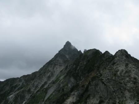 北鎌尾根からの槍ヶ岳の眺望