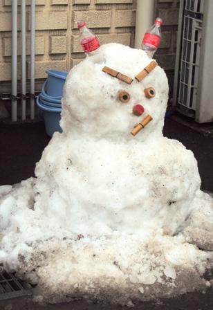 鬼になった雪だるま