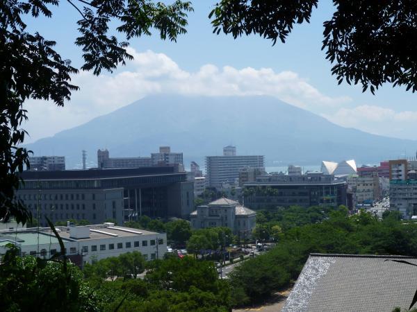 帰り道からの桜島