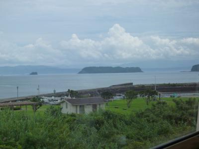 窓から見た島
