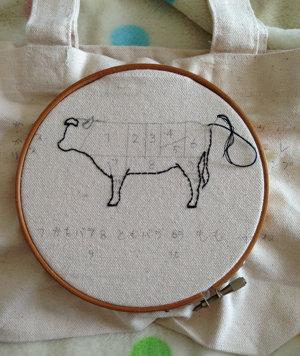 20141015 牛の部位の刺繍
