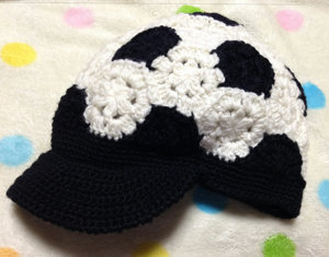 20141104 サッカーボール帽子