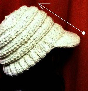20141106 帽子のツバから編む