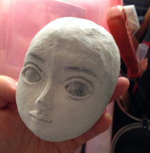 20141222 粘土 ドールの顔