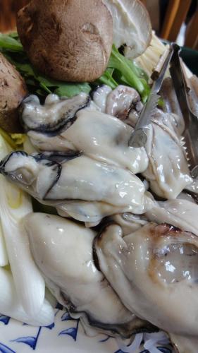牡蠣なべ!