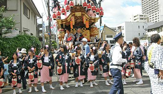 東灘区制60周年記念 だんじりパレード-3