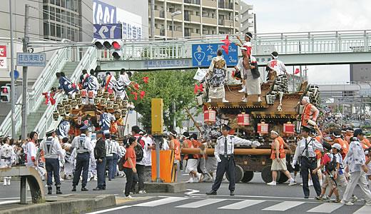 東灘区制60周年記念 だんじりパレード-5