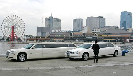 神戸港のストレッチリムジンカー-1