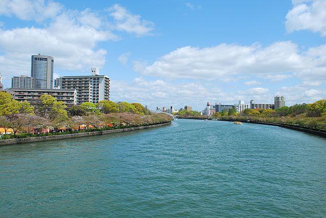 川崎橋から桜ノ宮方面