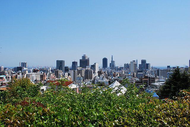神戸の街が見えました。