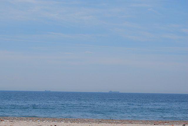 海を見ながら・・・・