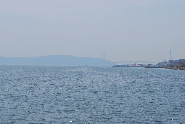 明石大橋、淡路島