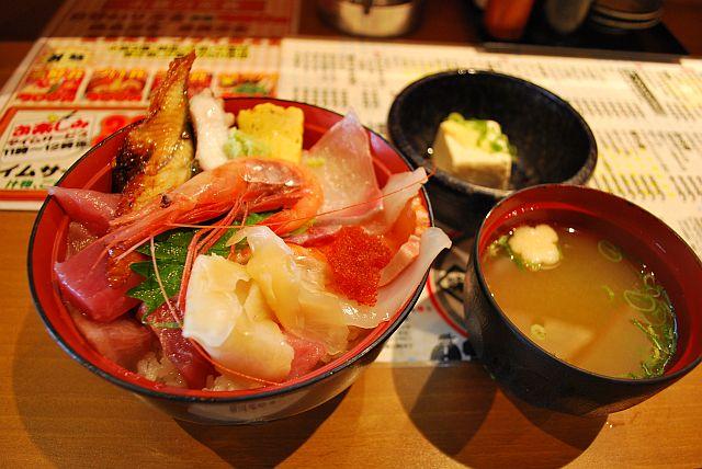 海鮮丼 500円です。