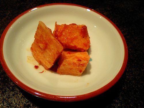 山芋キムチのサービス
