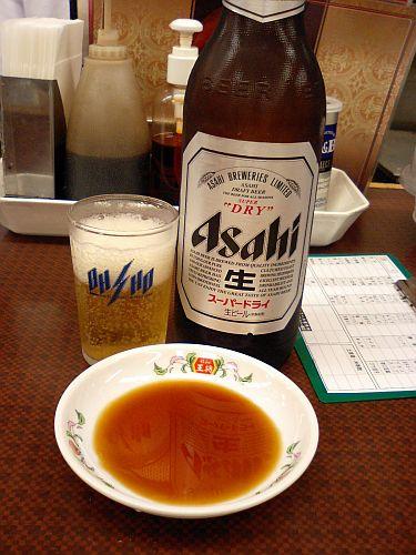 ビールがよく冷えてる