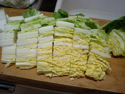 余った白菜も