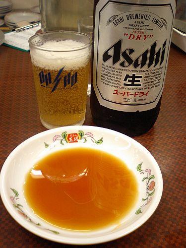 ビール、冷えてうまい