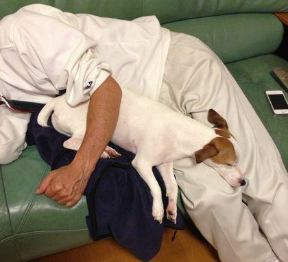 父とお休み