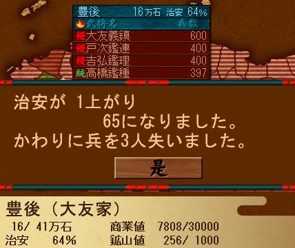 戦ノ国009治安画面
