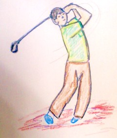 ゴルフのスイングで異変が!