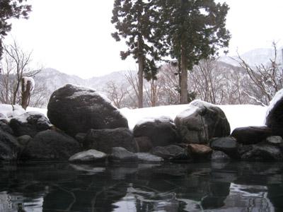 立山の某温泉にて