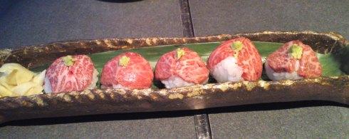 近江牛のてまり寿司