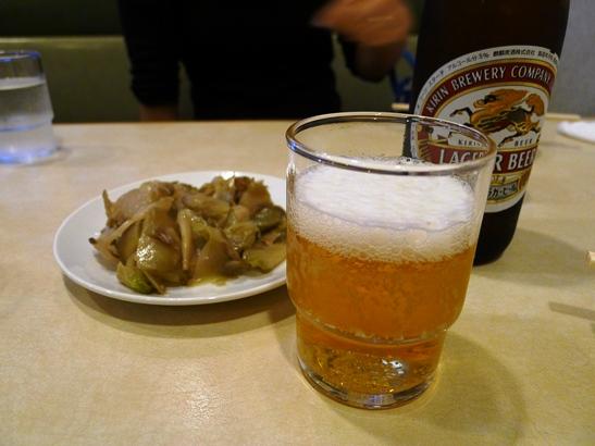 1ビールとザーサイ