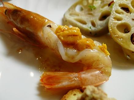 7赤海老のカルパッチョ