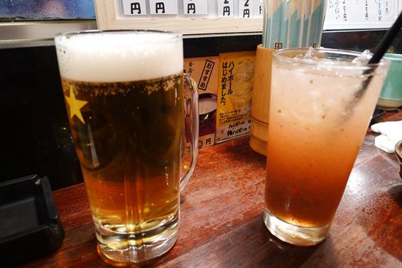 2ビール&自家製梅サワー