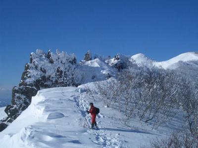冬の藻琴山登山