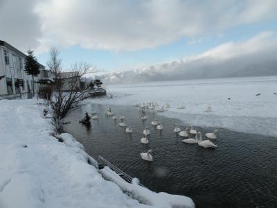 屈斜路湖凍る