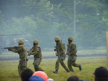 P1010526戦闘訓練展示