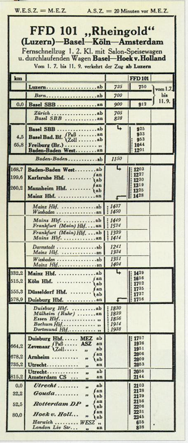 Time Table 1-1