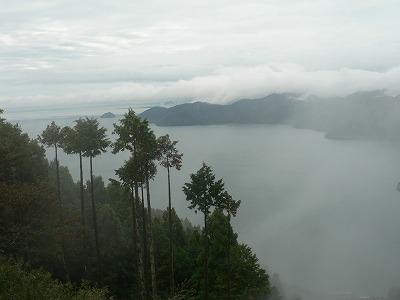 琵琶湖を見下ろします