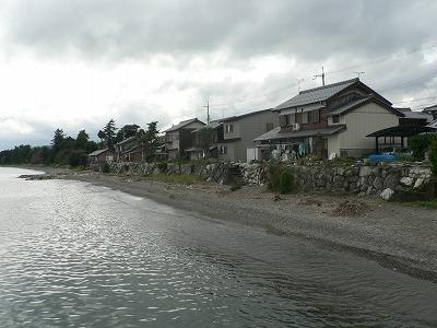 今津港付近の住宅です