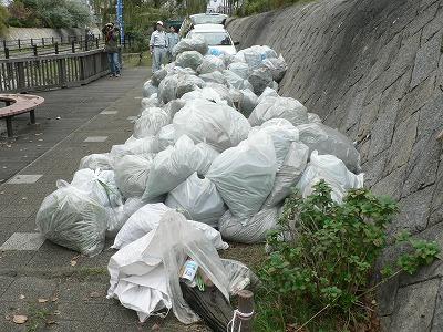 ゴミ袋は210個全部一杯になりました。