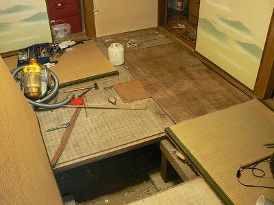 自宅畳、下地の修理