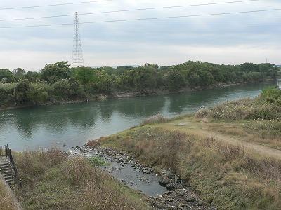 三栖閘門からみた宇治川