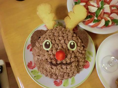 トナカイケーキ1