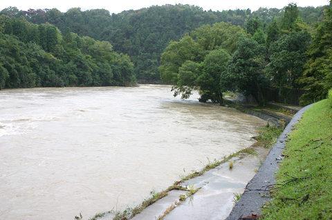 昨日の土岐川