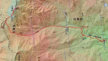 20140823白馬岳地図1日目
