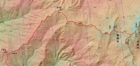 20140823白馬岳地図2日目①