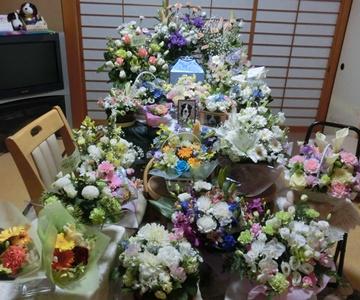 今日もお花に囲まれて。